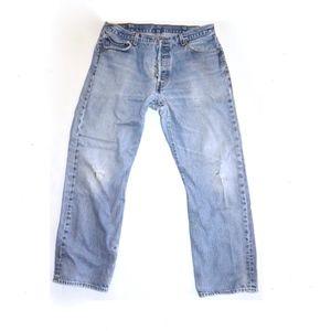 VINTAGE Levi's 501xx Jeans Distressed W 34 35 x 30